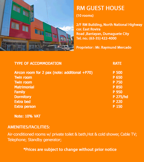 Accommodation in Dumaguete City