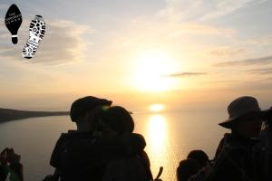 Santorini's stunning sunset.