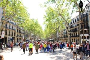 Tree-line avenue, Las Ramblas