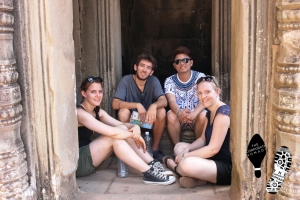 with the backpacker in Ankor Wat, Siem Reap