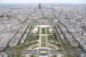 Paris, View from the summit of Eiffel Tower