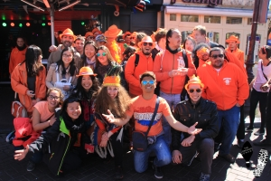 with couchsurfing buddies during King's Day